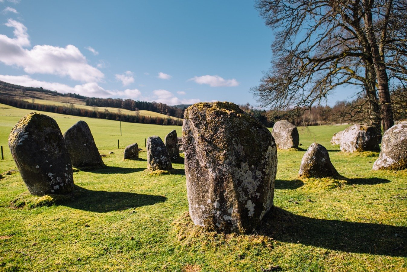 Stone circles in Scotland on a road trip