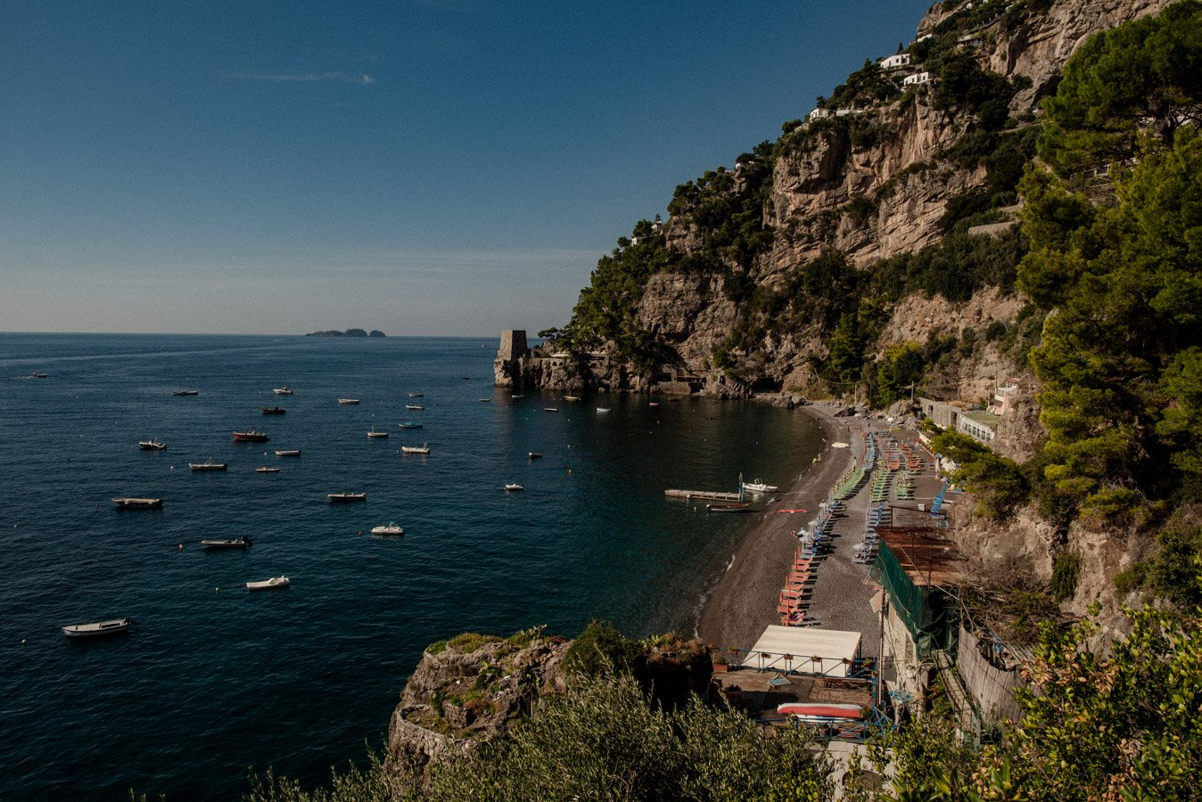 Fornillo Beach is one of the best beaches in Positano