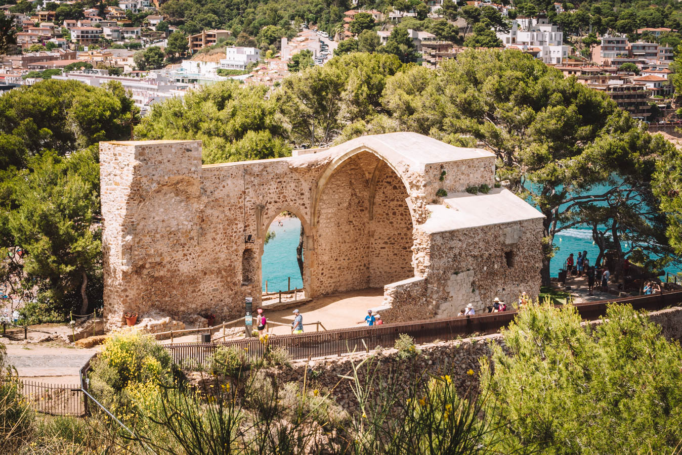 The castle and walls of Tossa de Mar are amazing to visit.