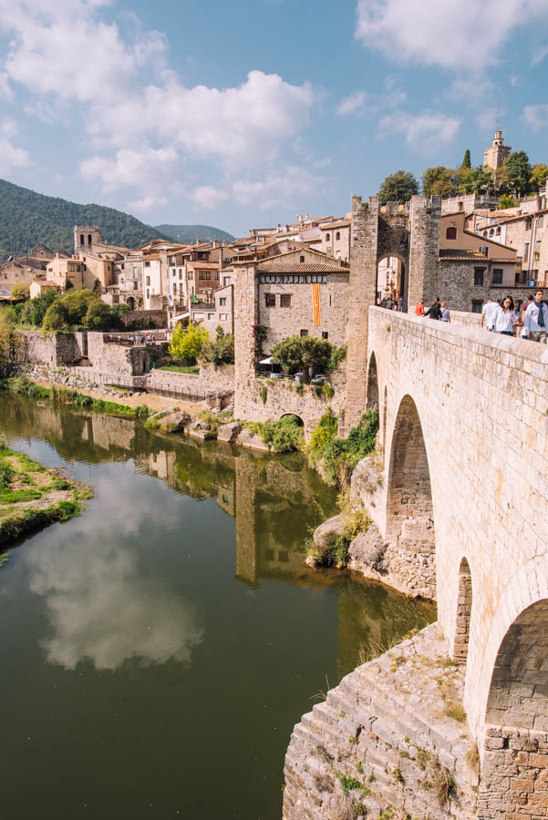 Besalu is a medieval town perfect for a day trip from Barcelona