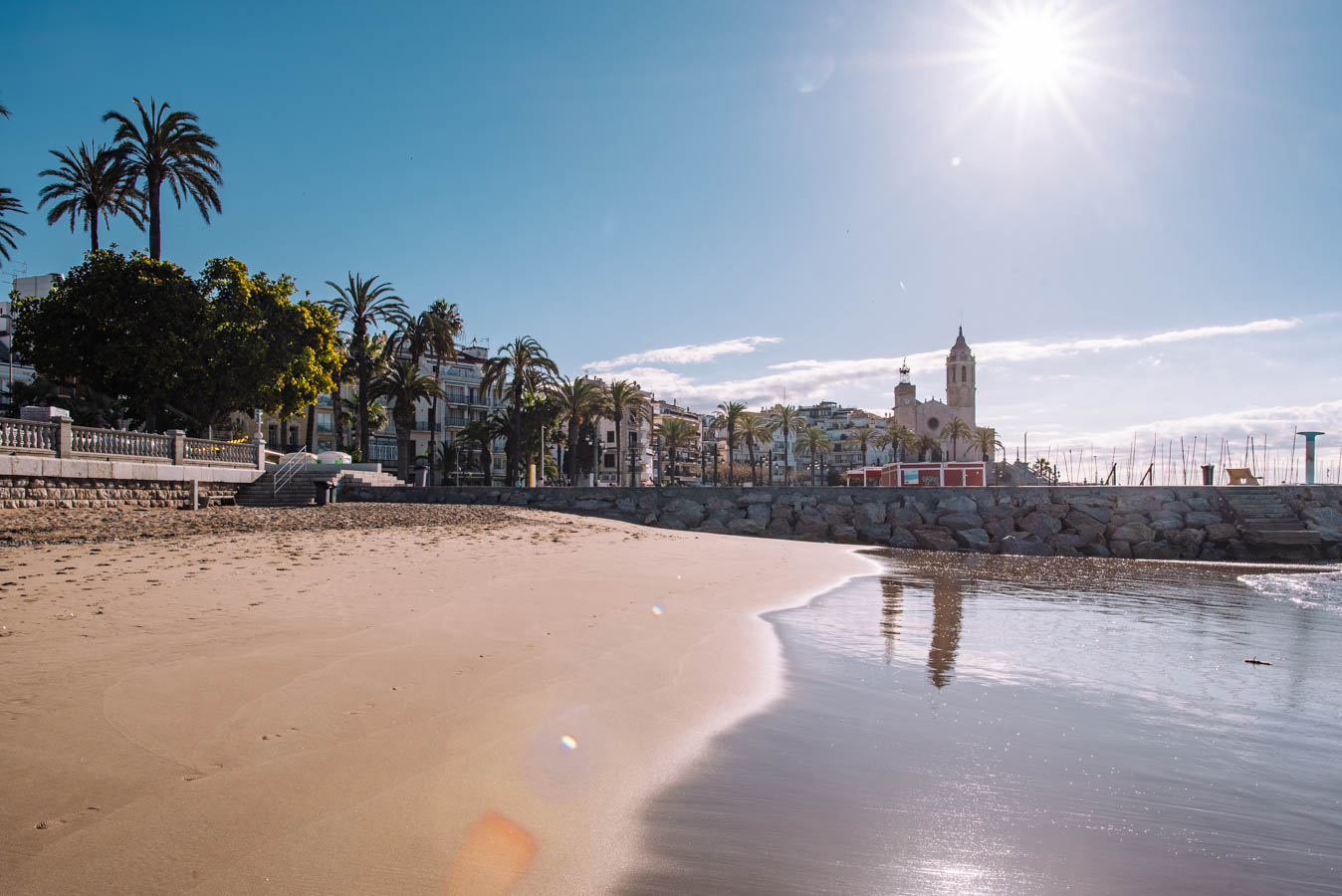 Sitges is a beautiful beach town close to Barcelona.