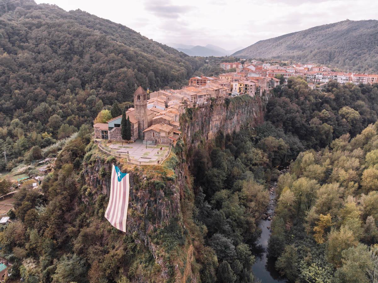 Castellfollit de la Roca in Spain is perfect for a Spanish road trip.