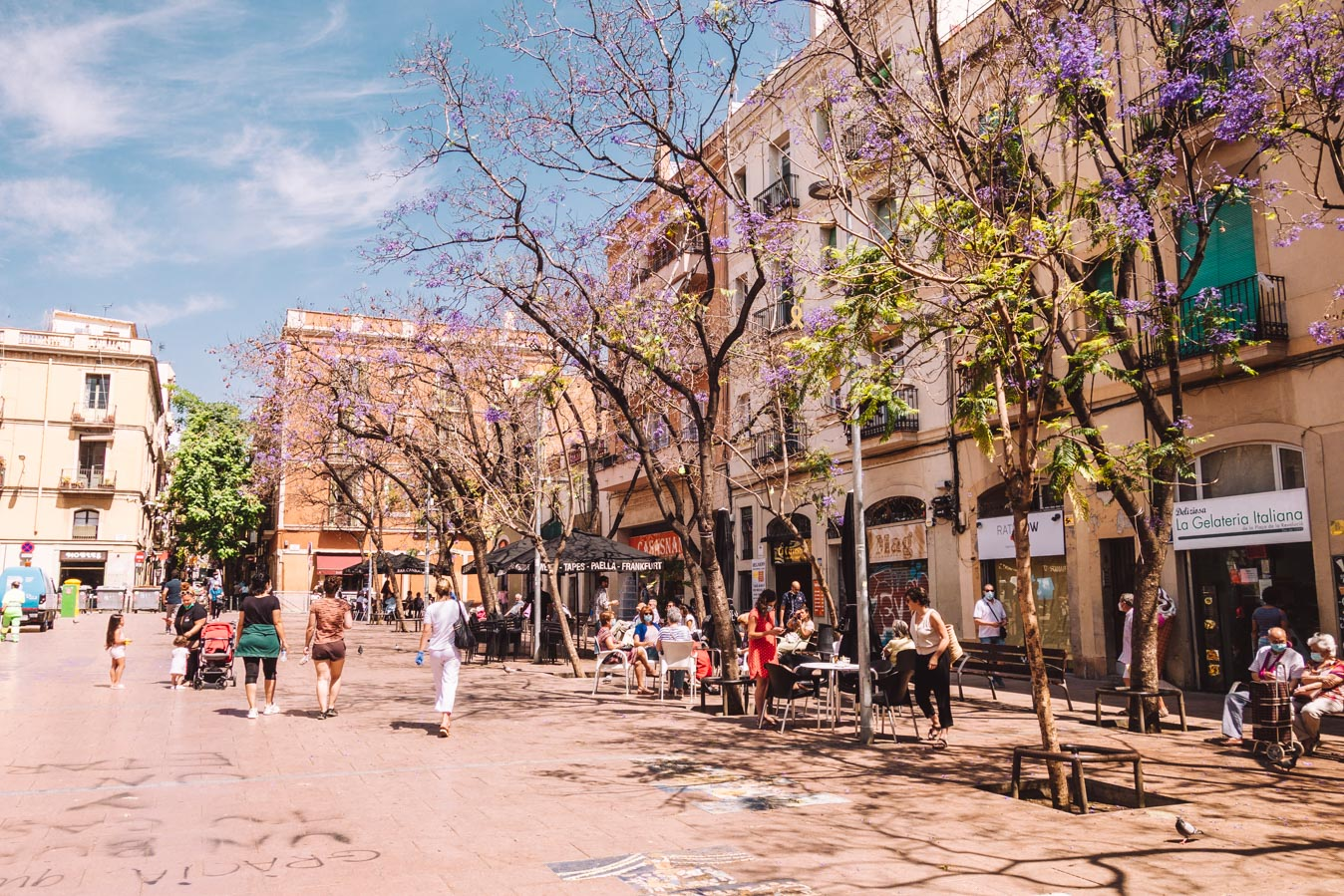 The plazas in Barcelona are where everything happens.