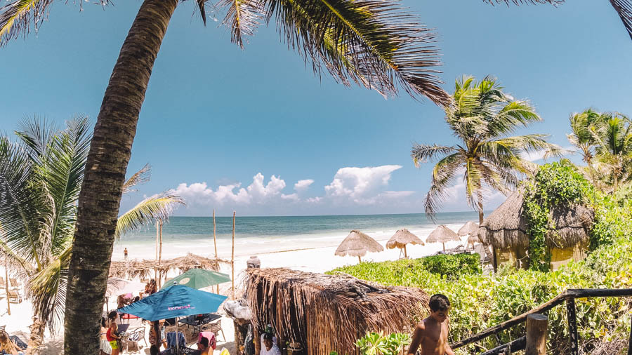 Toqueria La Eufemia is one of the best places in Tulum for beach views and cheap eats. Make sure you add it for authentic tacos in Tulum