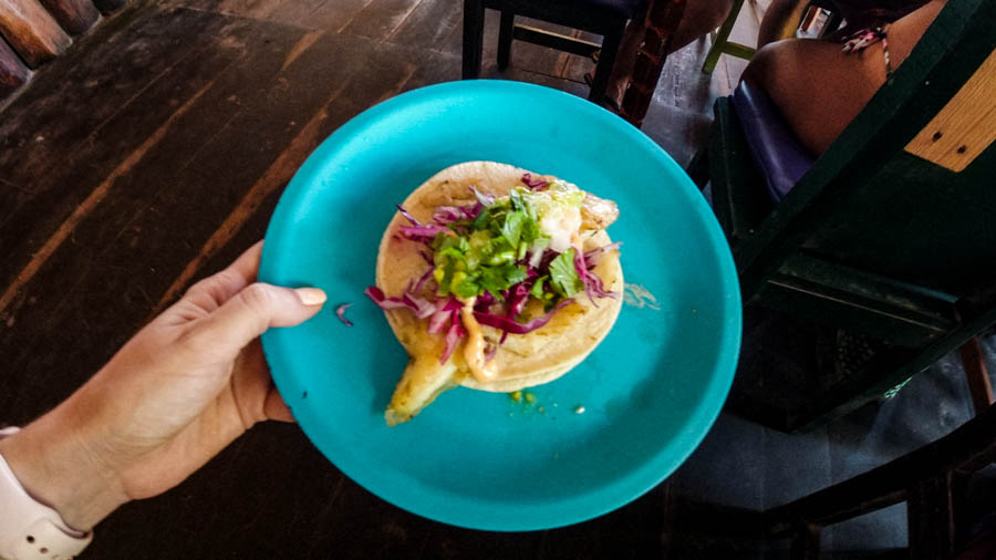 Find the best Mexican tacos in Tulum at Toqueria La Eufemia restaurant.