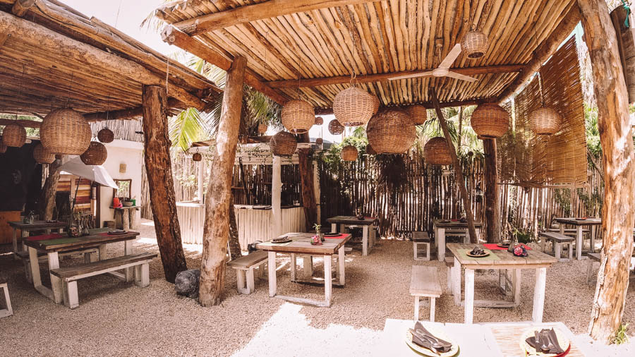 One of the best restaurants in Tulum is Charly's Vegan Tacos. If you're looking for vegetarian and vegan food make sure you eat at Charly's Vegan Tacos.