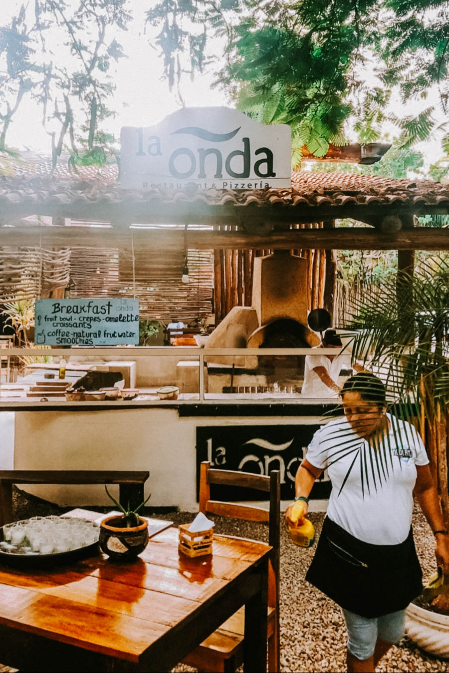 La Onda Pizza is one of the best restaurants in Tulum. If you're looking for takeaway in Tulum then grab a pizza from La Onda and head for the beach.
