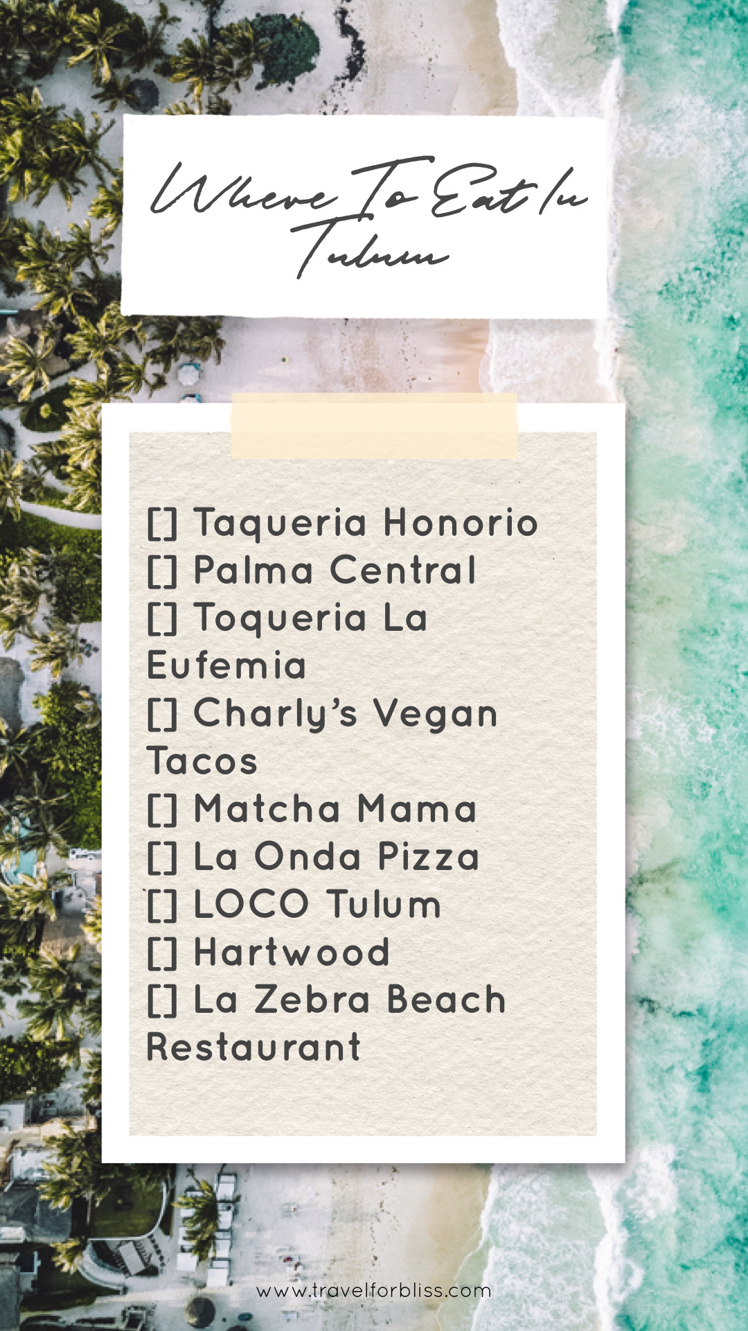 Travel Guide for where to eat in Tulum. Discover a list of the best restaurants in Tulum