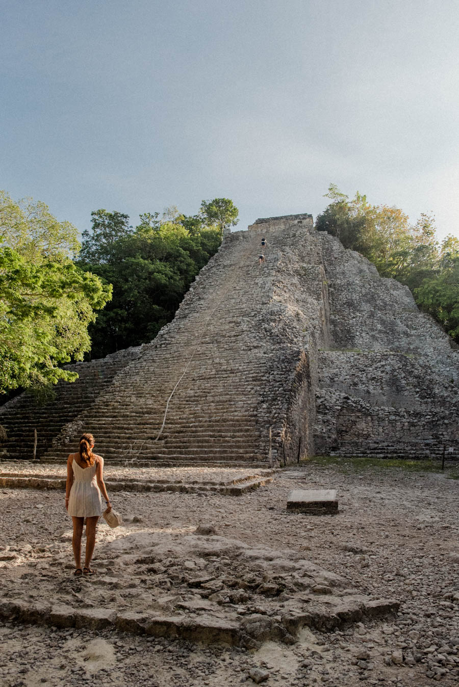 Coba is one of the best Mayan ruins to visit in Mexico. Climb the largest pyramid and visit the remaining temples and buildings.