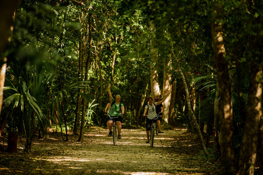 Coba is a perfect day trip from Tulum. Hire a bike to get around Coba, or explore with a tour.