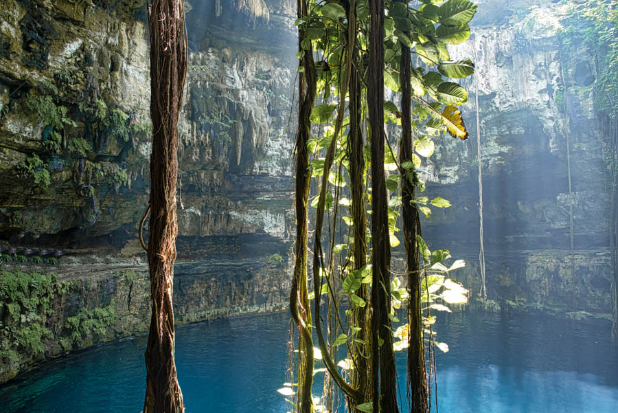 Oxman cenote is a perfect add on to a day trip from Tulum to coba and Valladolid. Oxman cenote is one of the best cenotes in Mexico and is great for swimming and photos.