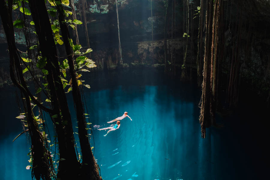 Oxman Cenote is one of the best cenotes in Mexico. It is perfect for swimming and is one of the best cenotes to visit in Valladolid Mexico