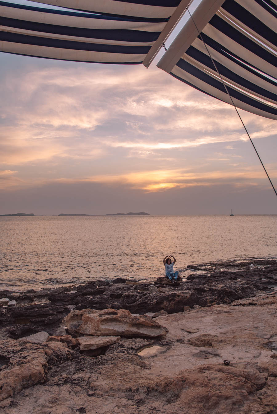 One of the best things to do in Ibiza is to watch the sunset from Cafe Del Mar.