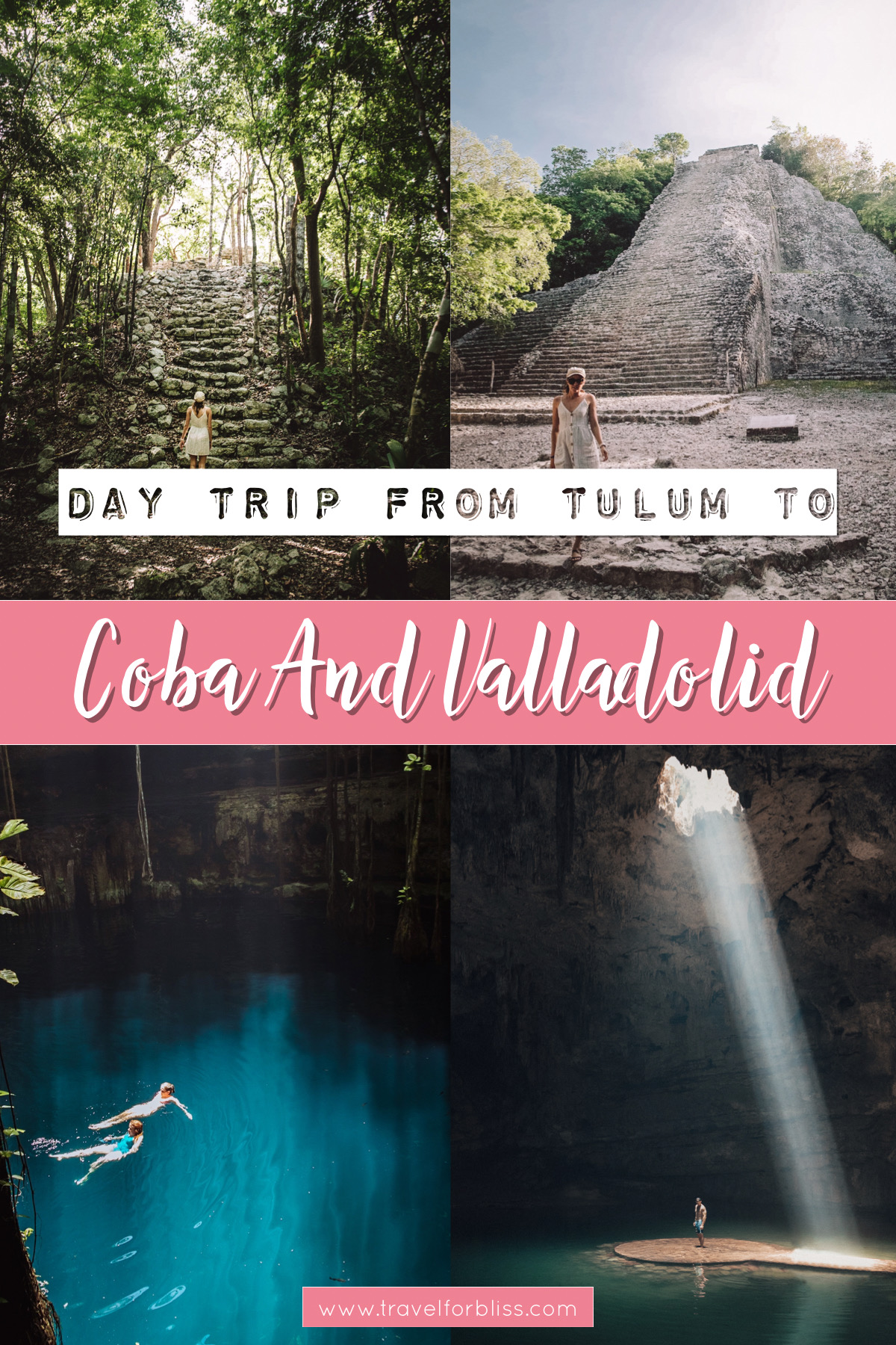 Go Swimming in the best Cenotes on the Yucatan Peninsula near Valladolid. Discover what day trips to do from Tulum. Visit Coba for some of the best Mayan ruins near Tulum. Valladolid is a great day trip for authentic and local Mexico.