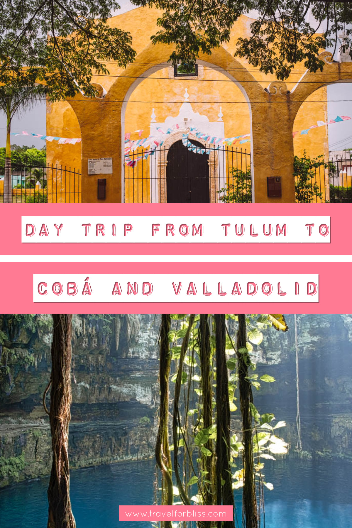 Find out the best day trip from Tulum to Coba and Valladolid. Discover some of the best cenotes on the Yucatan Peninsular. Explore the amazing Mayan ruins of coba and the colourful streets of Valladolid.
