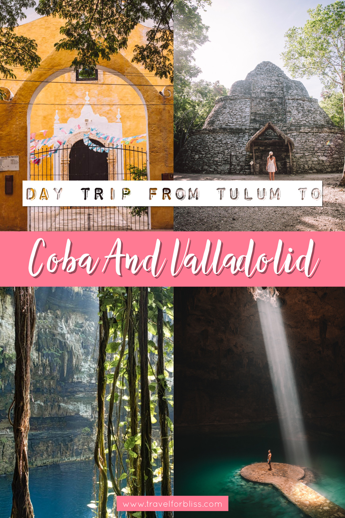 Make sure you do a day trip from Tulum to Coba and Valladolid and the cenotes around Valladolid. This is a unique area of Mexico with some of the best things to see and do on the Yucatan Peninsular.