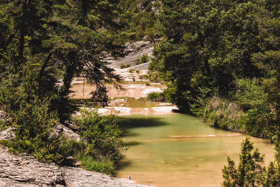 The pools of San Martin are a great place to hike and swim in Huesca Aragon